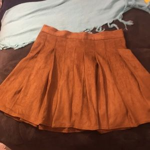 NWT Forever 21 faux suede mini skirt